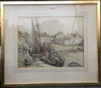 HARRY BERSTECHER, The East NEUK, watercolour, signed and dated,