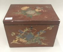 A Japanese lacquered box