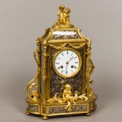 A 19th century French ormolu cased mantel clock by Jean Baptiste Delettrez (1816-1887) French The
