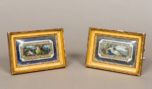 After ANGELICA KAUFFMAN (1741-1807) Swiss A pair of 18th/19th century miniatures on glass One
