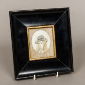 A late 19th/early 20th century portrait miniature on ivory Depicting a South American woman,