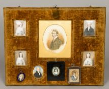 A collection of 18th/19th century portrait miniatures relating the Gathorne family All housed in a