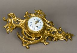 A 19th century French ormolu cased eight day cartel clock,