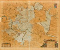 After JOAN BLAEU (1596-1673) Dutch Regiones Inundatae Coloured engraving on laid paper,