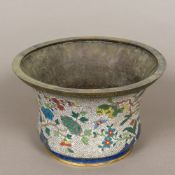 A Chinese cloisonne planter Of flared form,