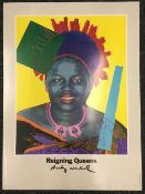 ANDY WARHOL (1928-1987) American Reigning Queens, Queen Ntombi Twala of Swaziland Poster, signed,