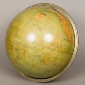 A 19th century Smith's terrestrial globe Of typical form,