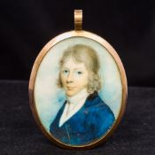 An early 19th century unmarked yellow metal, probably gold,