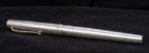 A 1912 925 silver Montegrappa 1055 V1 ballpoint pen 14 cm long.