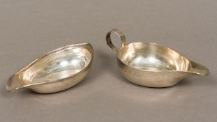 Two George III silver pap boats - WITHDRAWN Of typical form,