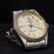 A Rolex stainless steel cased oyster perpetual day/date chronometer wristwatch - WITHDRAWN The