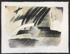 20th CENTURY SCHOOL Abstract Limited edition print, indistinctly signed,