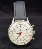 A 1960s Breitling Chronomat gentleman's wristwatch The swivelling bezel enclosing the multi-dial