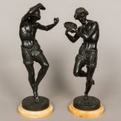 After FRANCISQUE JOSEPH DURET (1804-1865) French A pair of late 19th century French figures of