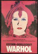 ANDY WARHOL (1928-1987) American Exhibition Poster for Kestner-Gesellschaft Warhol Exhibition 23rd