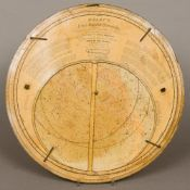 An 1863 Malby's New and Improved Planifphere Of typical revolving circular printed card form.