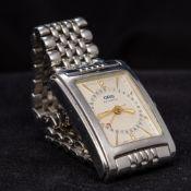 An Oris stainless steel cased automatic calendar wristwatch,