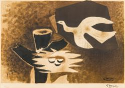 After GEORGES BRAQUE (1882-1963) French Le Nid Limited edition lithograhic print,