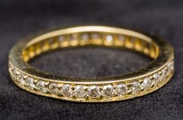 An 18 ct gold full eternity ring