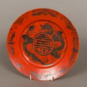 A 19th century Chinese porcelain plate