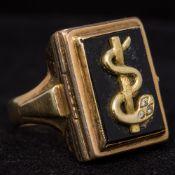 A diamond set 835 gold medical doctors r