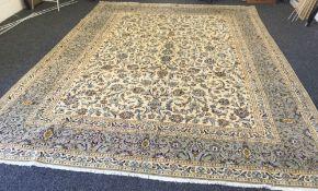 A Kashan wool carpet
