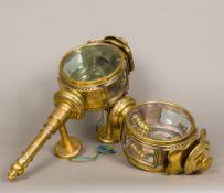 A pair of unusual 19th century brass coa