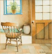 PAUL DAWSON (20th century) British (AR) Chair by the Door Watercolour and bodycolour, signed,