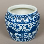 A Chinese blue and white porcelain jardi