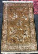 A silk Ghom pictorial rug, circa 1950