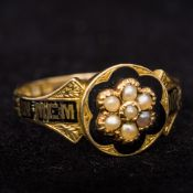 A Victorian (1866) 18 ct gold enamel and