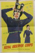 An original Royal Observer Corps poster