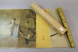 A boxed Chinese scroll