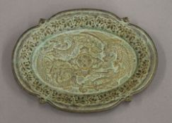 A small Chinese bronze dish