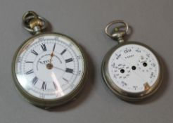 A Tell Best Centre Seconds chronograph pocket watch,