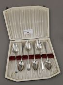 Six Georgian teaspoons by Solomon Hougham (1800-1805),