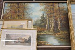 DECORATIVE SCHOOL, Landscape, oil on canvas,