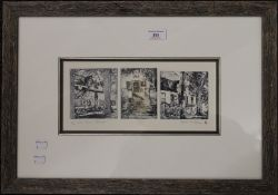 BRAAM VAN WIJK, a limited edition South African triptych etching,