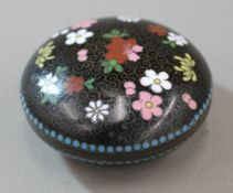 A small round cloisonne box