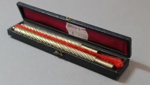A Victorian cased pen and pencil