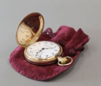A 9 ct gold cased full hunter pocket watch, Reid and Sons,