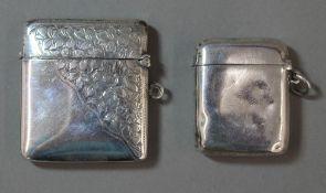 Two silver vesta cases (50.