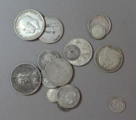 A small quantity of silver coins