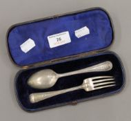 A Victorian silver Christening set (2.