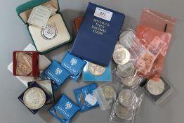 A quantity of coins