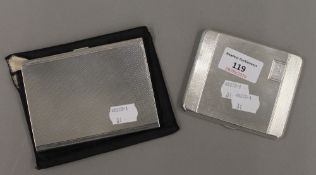 A silver cigarette case, Birmingham 1934, and another 1946 (10.