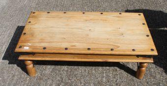 A modern pine coffee table