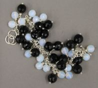 A facet cut bead dress bracelet