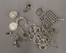 A small quantity of silver jewellery and charms (approximately 77.