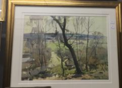 After JACK MERRIOTT (1901-1968) British, Rural Landscape, print, signed within the plate,